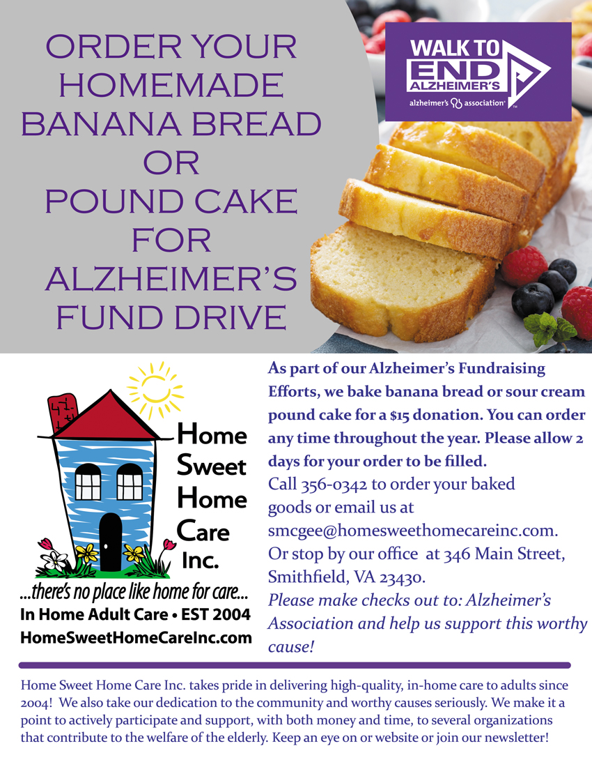 how to order sweets and raise funds for Alzheimer's